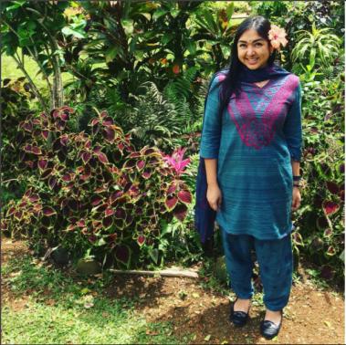 2017 Wearing a Shalwar Kameez at Kauai Hindu Monastery