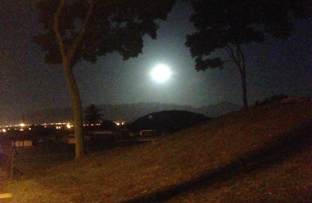2016 Full Moon over Pearl City, Hawaii