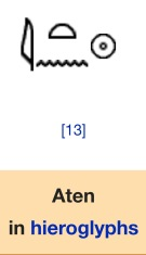 Aten in Hieroglyphics per Wikipedia