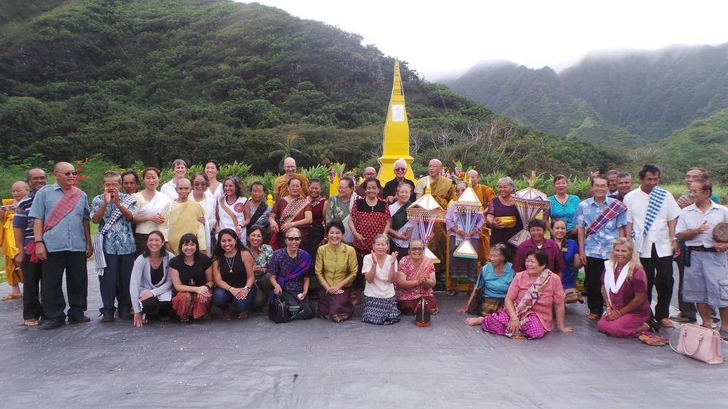 2017 Wat Lao Buddha Sacksith That Luang Group Picture