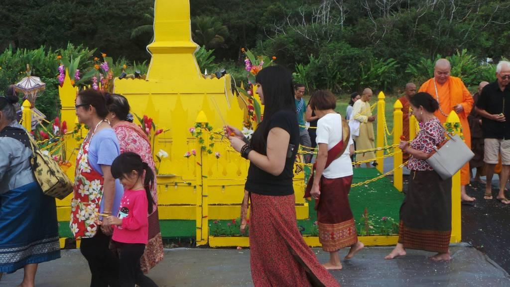 2017 Wat Lao Buddha Sacksith - Monchalee Circumambulating That Luang
