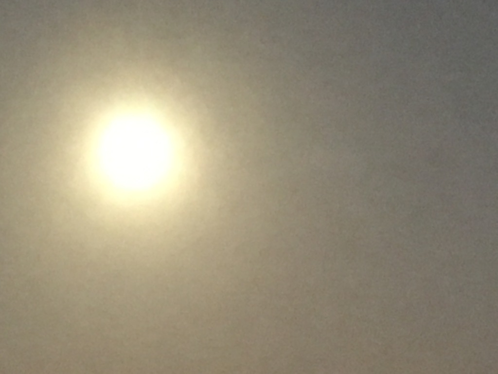 2018 Sun on a Hazy Day